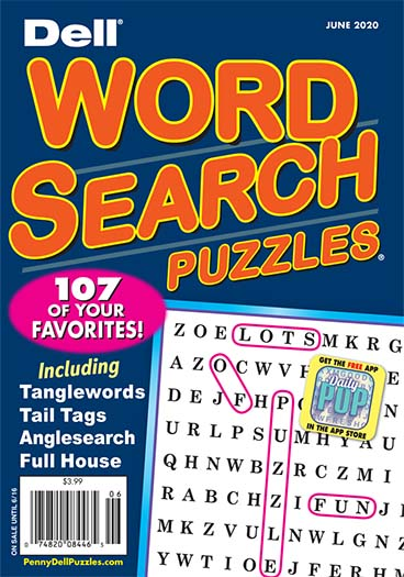 Dell Word Search Puzzles Magazine Cover