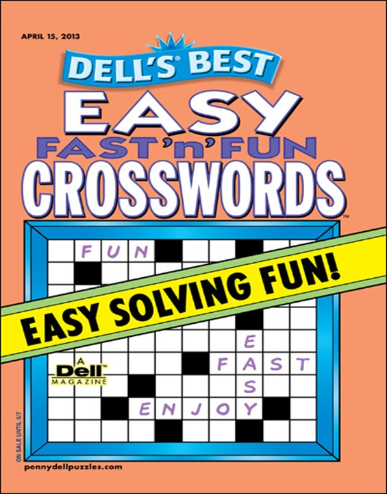 Dell's Easy Fast 'N' Fun Crosswords Magazine Cover