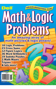 Dell Math & Logic Problems Magazine Cover