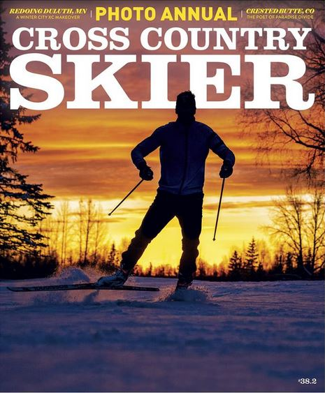 Cross Country Skier Magazine Cover