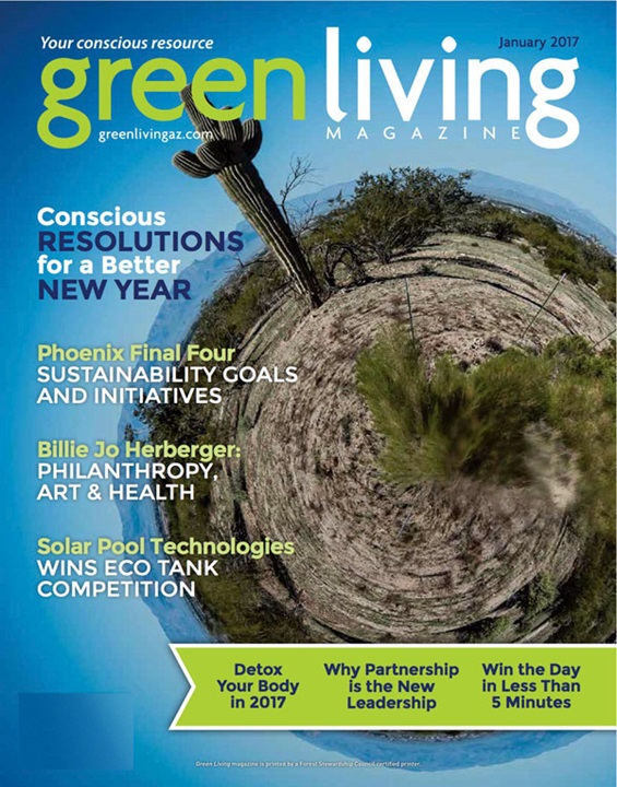 Green Living Magazine Cover