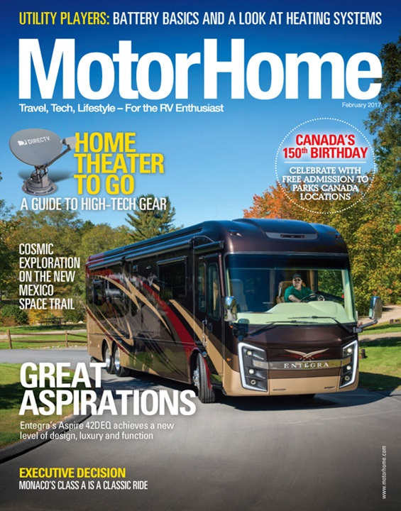 MotorHome Magazine Subscription Cover