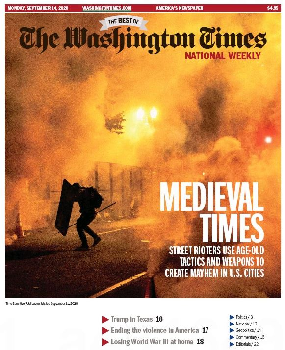 Washington Times National Weekly Edition Magazine