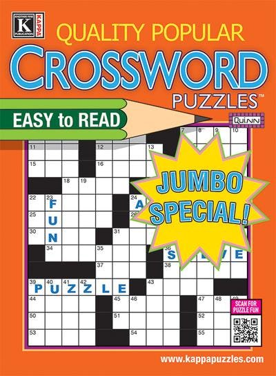 Quality Popular Crossword Puzzles (Jumbo) Magazine