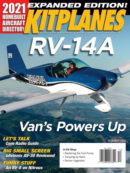 Kitplanes Magazine Subscription Cover
