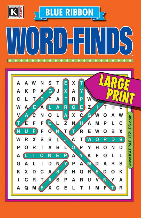Blue Ribbon Word Finds Magazine
