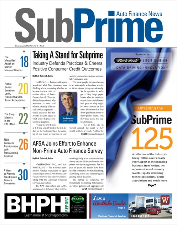 SubPrime Auto Finance News Magazine