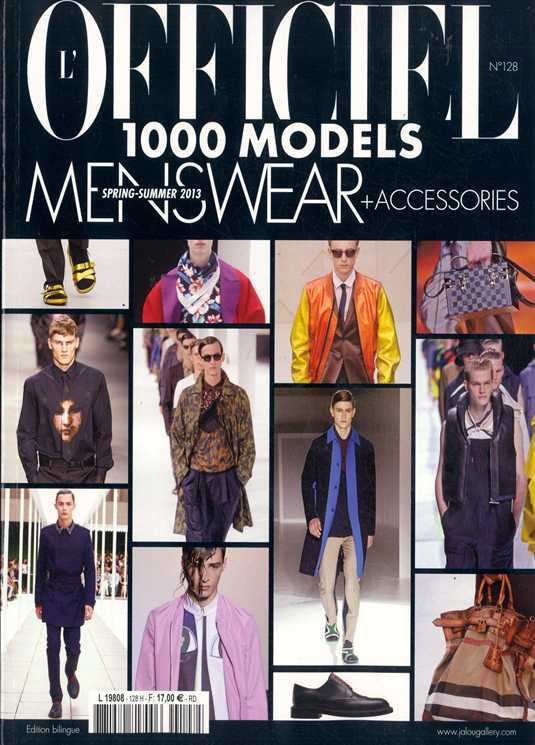 L'Officiel 100 Model Men Magazine