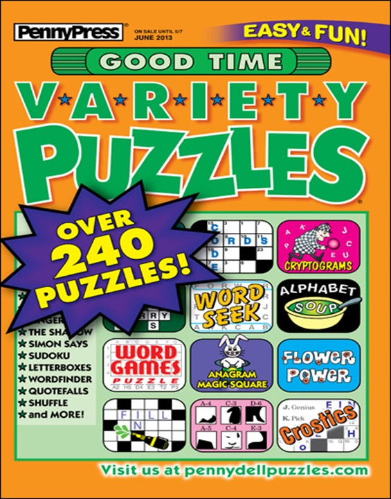 Good Time Variety Puzzles Magazine Cover