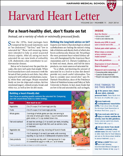Harvard Heart Letter Magazine Cover