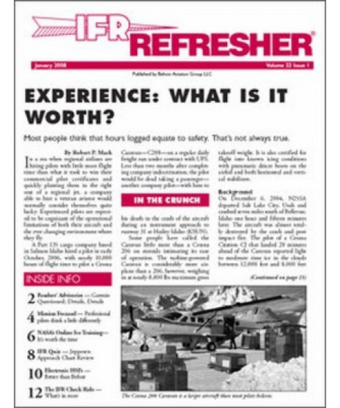 IFR Refresher Magazine