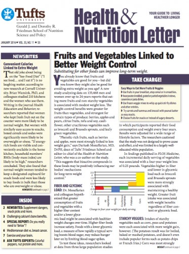 Tufts University Health & Nutrition Letter Magazine