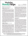 Weekday Homily Helps Magazine