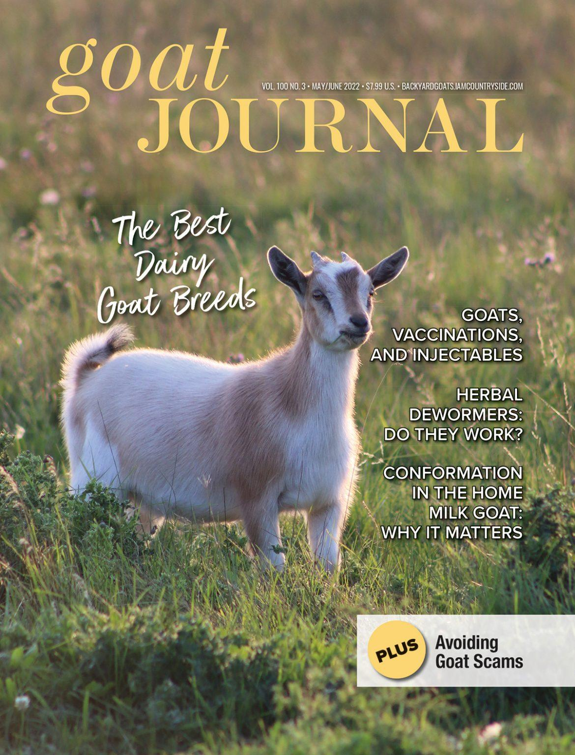 Dairy Goat Journal Magazine Cover