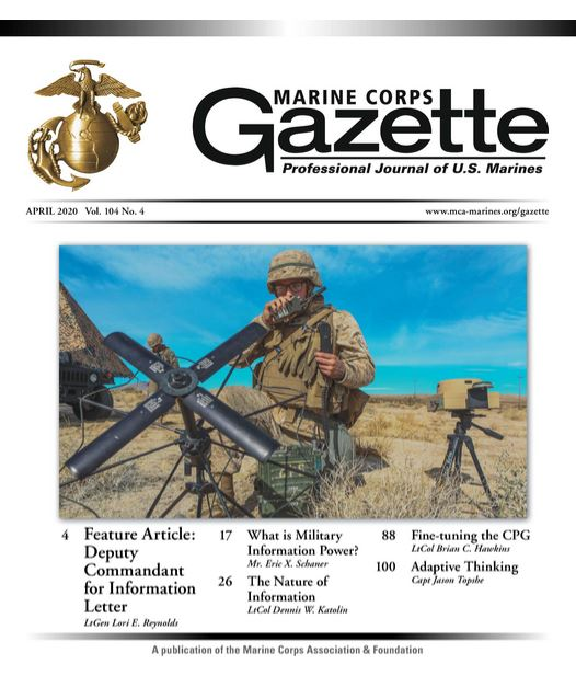 Marine Corps Gazette Magazine Cover