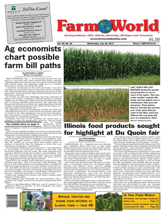 Farm World Magazine Cover