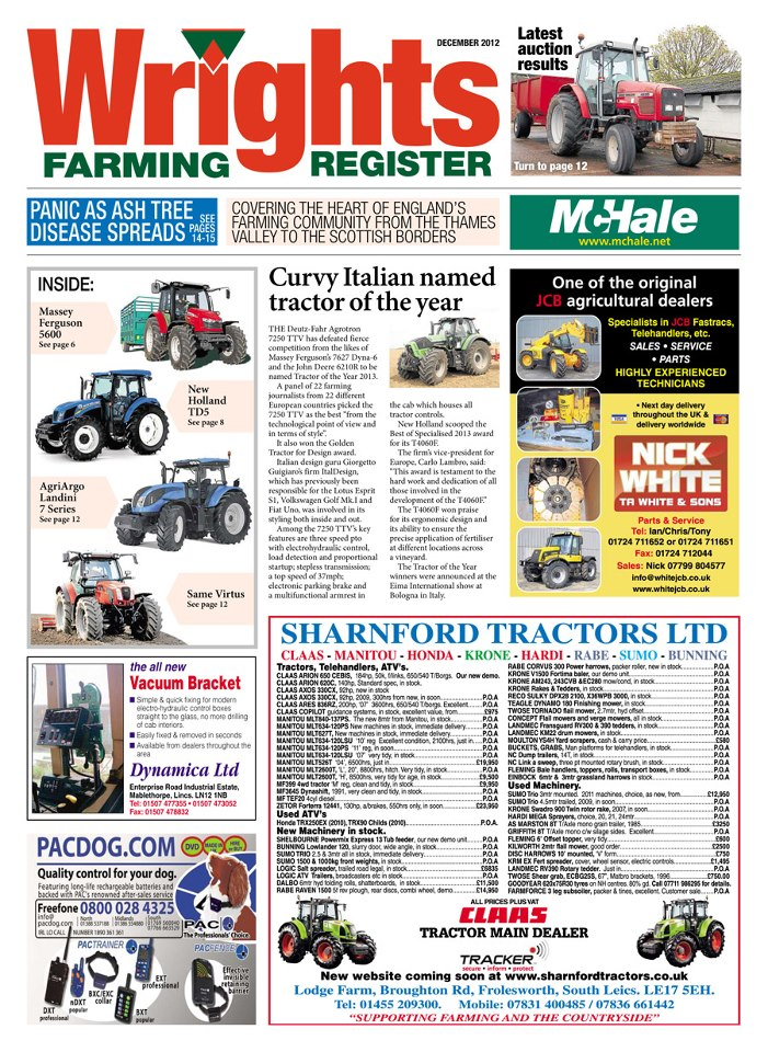 Wrights Farming Register (UK) Magazine