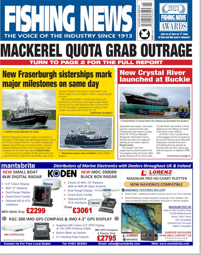 Fishing News Weekly (UK) Magazine