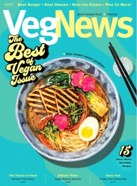 VegNews Vegan Magazine Magazine Cover