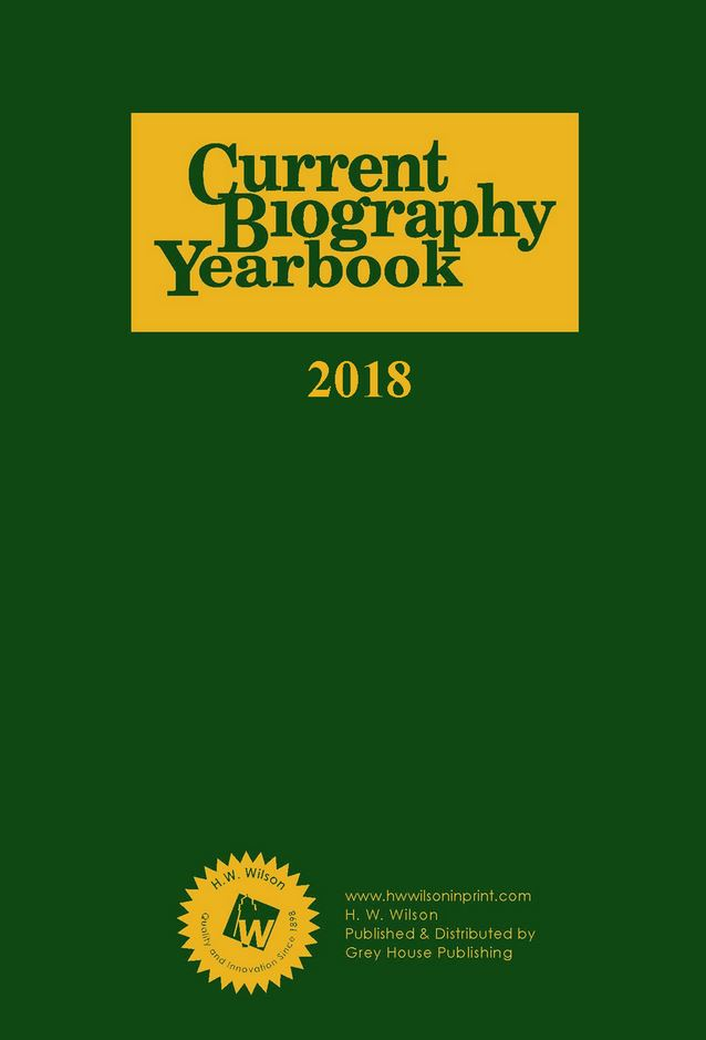 Current Biography Yearbook  Magazine Cover