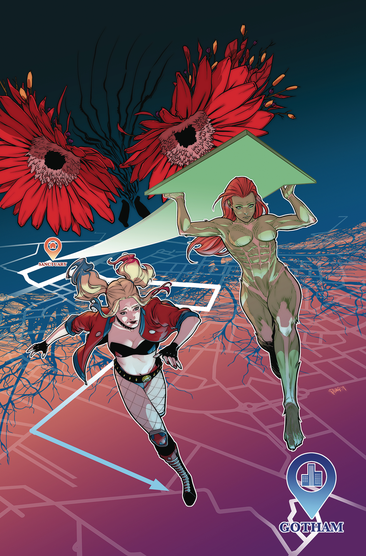 Harley Quinn and Poison Ivy (6 issue series) Magazine Cover