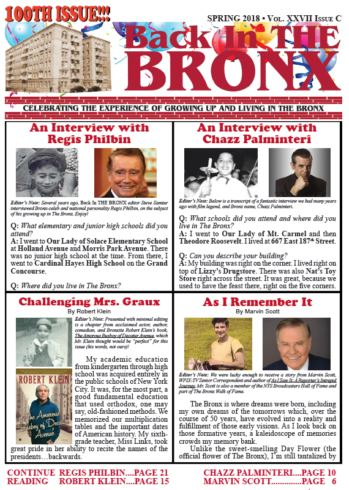 Back In THE BRONX Magazine Cover