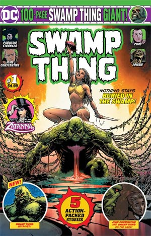 Swamp Thing Giant Magazine Subscription Cover