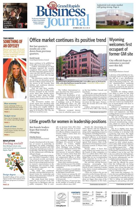 Grand Rapids Business Journal - Print + Online Magazine Subscription Cover