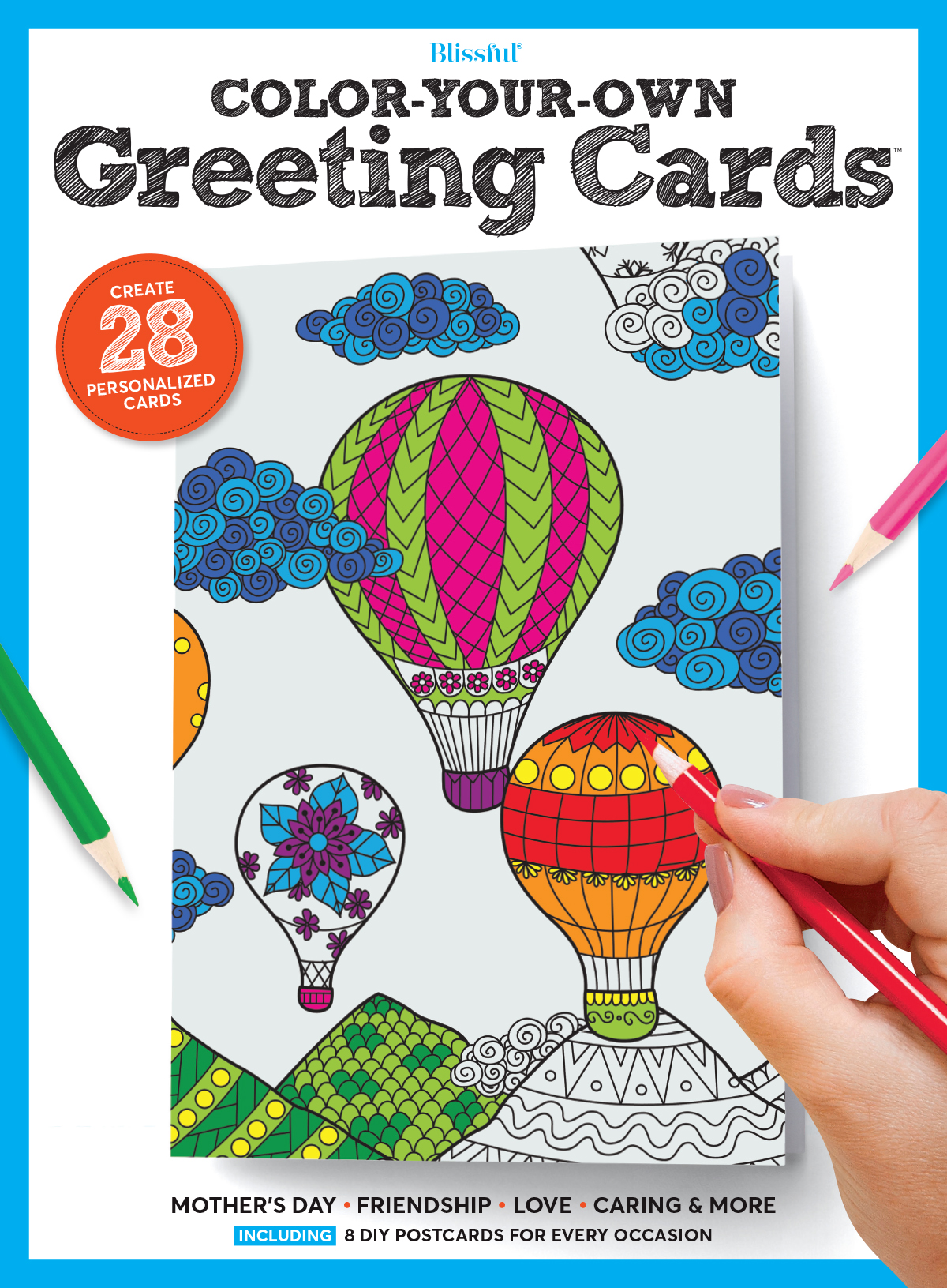 Blissful Color-Your-Own Greeting Cards Magazine