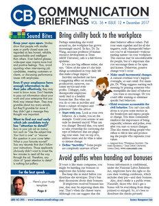 Communication Briefings - Digital Magazine Cover